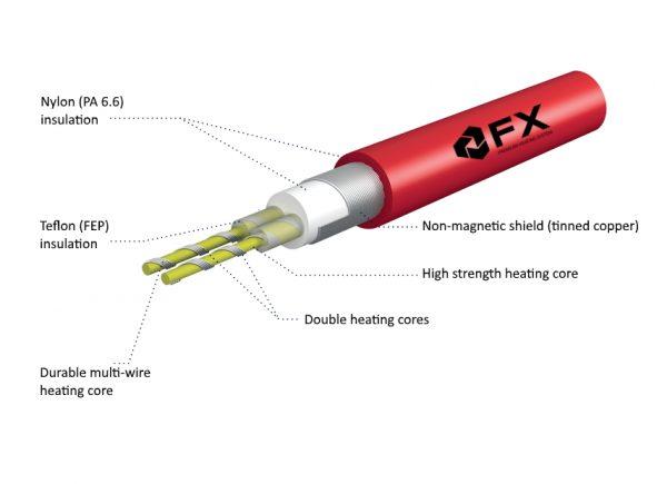 FX18 гріючий кабель